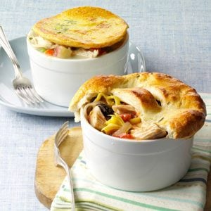 Mediterranean Turkey Potpies