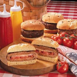 Stuffed Half-Pounders