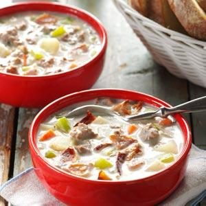 Beefy Bacon Chowder Recipe