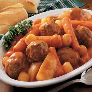 Oven Meatball Stew Recipe