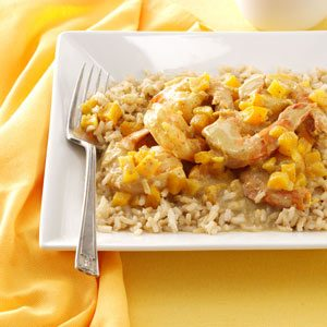 Easy Curried Shrimp