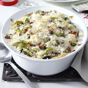 Brussels Sprouts & Cauliflower Gratin Recipe