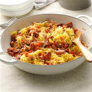 Spaghetti Squash & Sausage Easy Meal