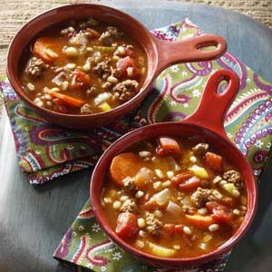 Ground Beef and Barley Soup Recipe