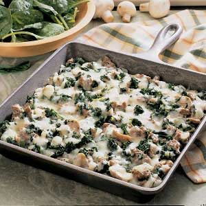 Spinach Skillet Bake Recipe