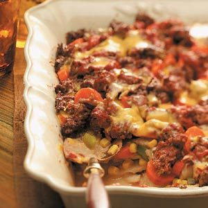 Layered Beef Casserole Recipe