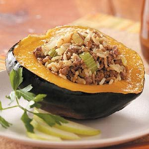 Ground Beef Stuffed Acorn Squash Recipe