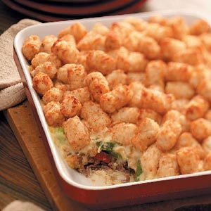 Yummy Tater-Topped Casserole Recipe