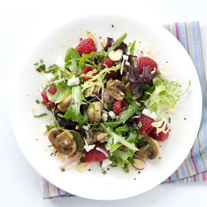 All-Spiced Up Raspberry and Mushroom Salad Recipe