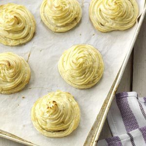 Pretty Duchess Potatoes Recipe