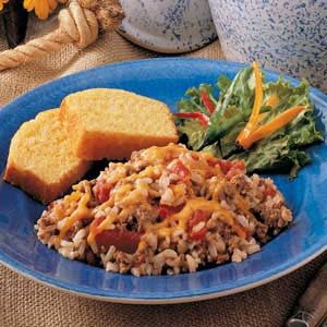 Baked Beefy Spanish Rice Recipe