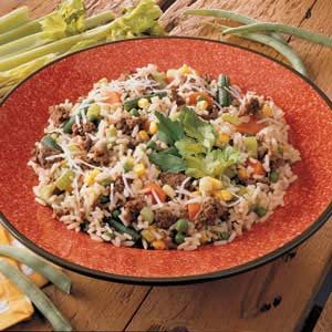 Colorful Hamburger Rice Recipe