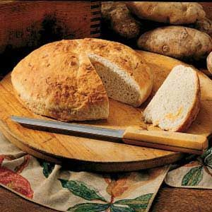 Cheesy Potato Bread Recipe