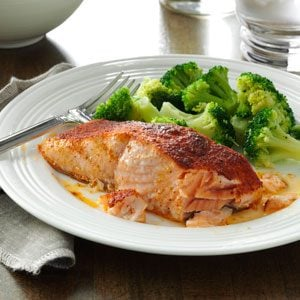 Oven-Barbecued Salmon Recipe
