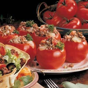 Rice-Stuffed Tomatoes Recipe