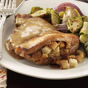 Stuffing-Stuffed Pork Chops Recipe