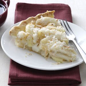 Coconut-Streusel Pear Pie