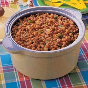 Pork 'n' Beans Bake Recipe