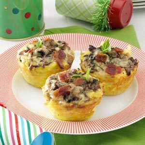 Hash Brown Nests with Portobellos and Eggs