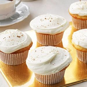 Yuletide Eggnog Cupcakes Recipe photo by Taste of Home