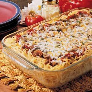 Spaghetti Pizza Recipe
