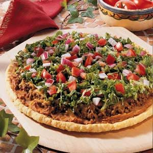 Refried Bean Pizza Recipe