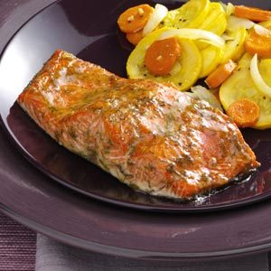 Caramel Glazed Salmon Recipe