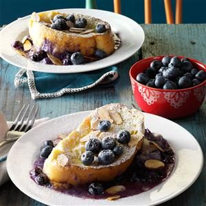 Baked Blueberry-Mascarpone French Toast