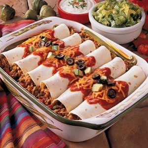 Spanish Rice Enchiladas Recipe