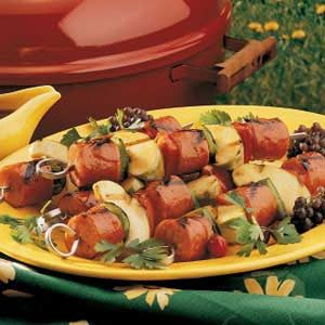 Apple Kielbasa Kabobs Recipe