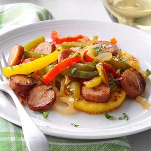 Chicken Sausages with Polenta Recipe