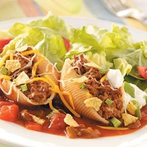 Taco-Filled Pasta Shells Recipe