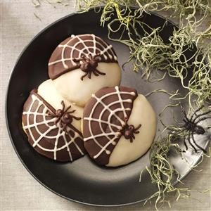 Black & White Spider Cookies Recipe