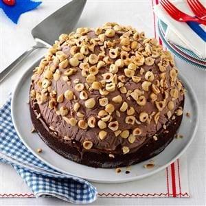 Hazelnut Brownie Bombe Recipe