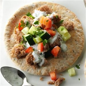 Greek Sausage Pitas Recipe
