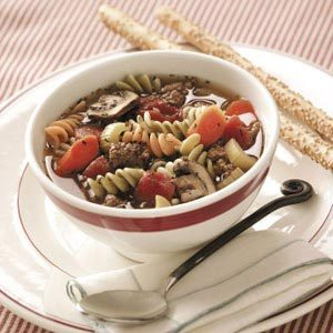 Pasta Pizza Soup Recipe