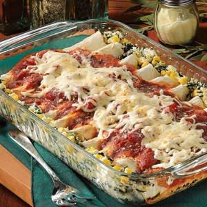 Spinach Cheese Enchiladas Recipe