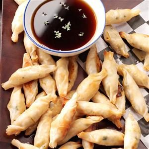 Baked Pot Stickers with Dipping Sauce