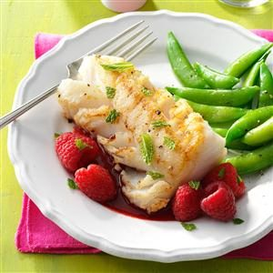 Cod with Raspberry Sauce Recipe