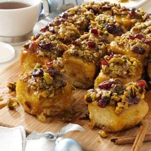 Cranberry-Pistachio Sticky Buns Recipe