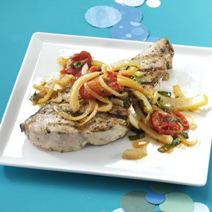 Swordfish with Fennel and Tomatoes Recipe