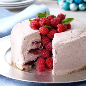Chocolate-Raspberry Angel Food Torte Recipe