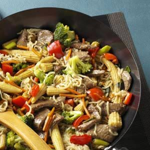 Sirloin Stir-Fry with Ramen Noodles Recipe