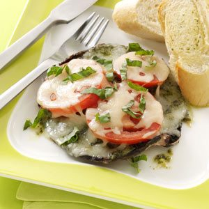 Pesto Portobello Pizzas Recipe
