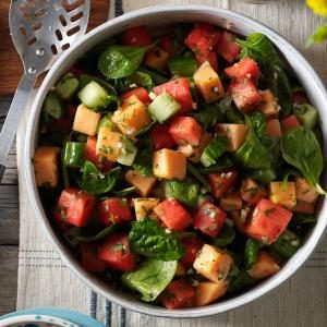 Watch Us Make: Watermelon & Spinach Salad