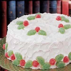Holiday White Cake Recipe