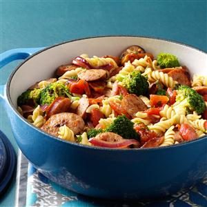 Pasta & Broccoli Sausage Simmer Recipe