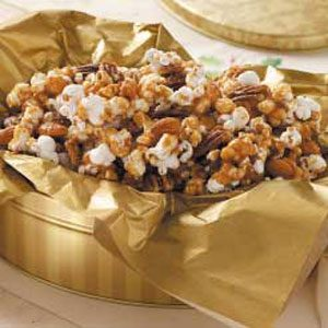 Nutty Caramel Popcorn Recipe