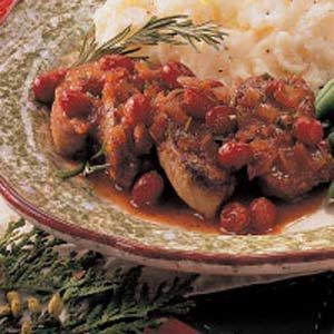 Cranberry Pork Medallions Recipe