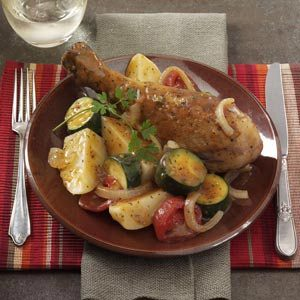 Turkey Drumstick Dinner